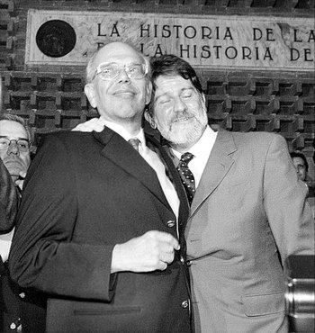 Jorge Batlle y Luis Hierro conformaron la fórmula colorada para las elecciones, en 1999.