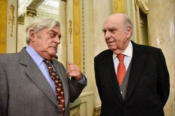 Luis Alberto Lacalle Herrera y Julio María Sanguinetti tuvieron sus diferencias en la década de 1990