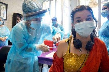 Vacunación contra el covid-19. 12 de abril de 2021.