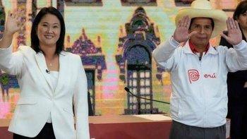 Keiko Fujimori, de Fuerza Popular, y Pedro Castillo, de Perú Libre, son los dos candidatos que se disputan la presidencia de Perú.