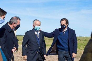 El presidente de la República, Luis Lacalle Pou, visitó el megatambo en junio.