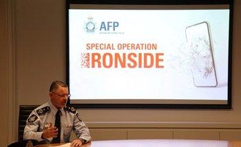 La policía detectó unos 20 millones de mensajes enviados por criminales
