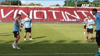 La selección entrenando en Caracas