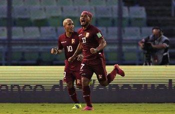 El festejo del gol no validado a Josef Martínez