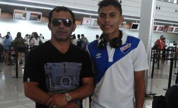 Yonny Ocampo con su hijo Brian, delantero de Nacional y de la selección uruguaya