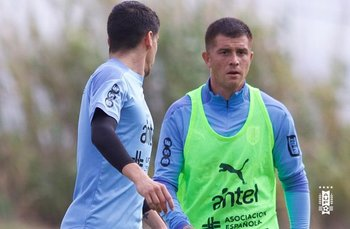 Juan Ignacio Ramírez entrenando en la selección mayor