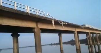 Así quedó el puente de la ruta 3 tras el accidente