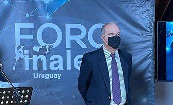 Álvaro Lapido junto al exministro Carlos María Uriarte en el Foro Inale 2021.