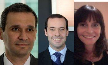 Enrique Ermoglio (Deloitte), Agustín Sheppard (UnionCapital), Adriana Ascione (Vantem)