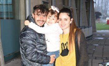 Reymúndez en el reencuentro con su familia en Chile