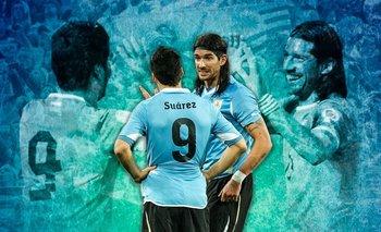 Luis Suárez le agradeció al Loco Abreu quien dejó el fútbol