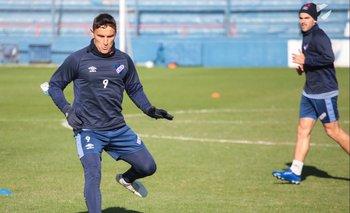 Gonzalo Bergessio en el entrenamiento del sábado