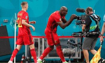 Lukaku se acercó a una cámara para dedicarle su gol al danés Eriksen
