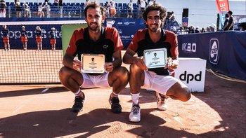 Marín Cuevas y Pablo Cuevas celebraron el título del Challenger de Lyon
