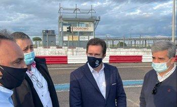 El ministro de Turismo recorrió el autódromo de Rivera.