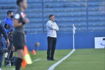 Juan Ramón Carrasco siguió el partido con este gesto
