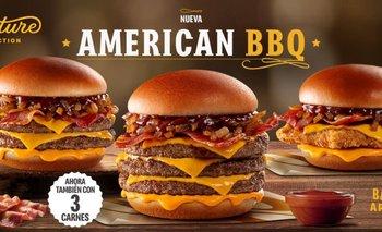 La nueva hamburguesa trae los sabores típicos de una barbacoa estadounidense.