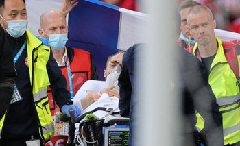 Christian Eriksen fue conducido a un hospital de Copenhague.