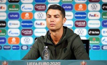 Cristiano Ronaldo en la previa del partido de este martes