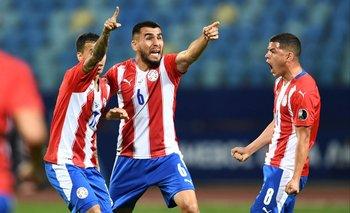 Romero Gamarra, Alonso y Sánchez celebran el triunfo de Paraguay