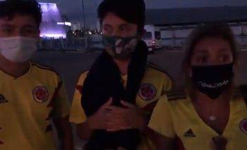 Una familia colombiana llegó a Brasil pensando que el público podría ingresar a los estadios para ver los partidos