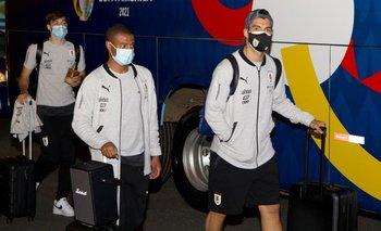 La selección uruguaya llegó a Brasilia para comenzar su participación en la Copa América 2021.