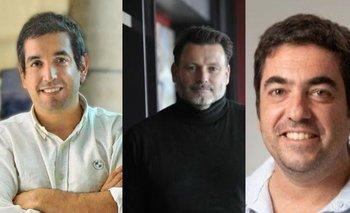 Pablo Costoya, Pablo Pesce y Marcelo Debernardi