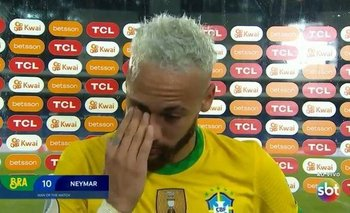 El llanto de Neymar