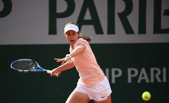 Guillermina Grant en Roland Garros Juniors el año pasado