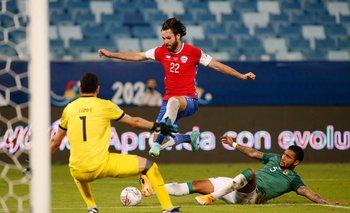Ben Brereton fue el autor del gol chileno