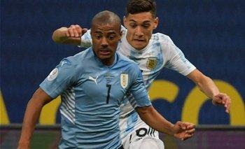 Nicolás De la Cruz espera evolucionar bien para poder eestar desde el lunes con Uruguay