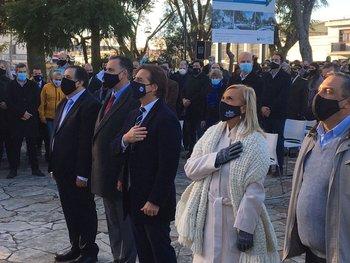 Lacalle Pou encabezó el acto en el Sauce por el 257 aniversario del natalicio del prócer José Artigas