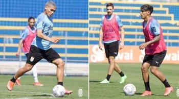 Brian Ocampo y Facundo Torres entrenaron en la mañana del sábado en Brasilia junto a los futbolistas que no alternaron ante Argentina; por la tarde viaja el plantel hacia Cuiabá