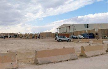 Foto de archivo que muestra base de EEUU y otras tropas extranjeras en la provincia de Anbar, en Irak