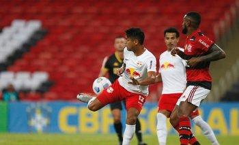Aderlan anota para Bragantino ante Flamengo