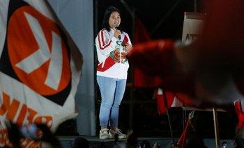 La justicia peruana evalúa un pedido fiscal para que ordene nuevamente prisión preventiva contra la candidata Keiko Fujimori.