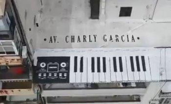 La pintada en la azotea de la residencia del músico
