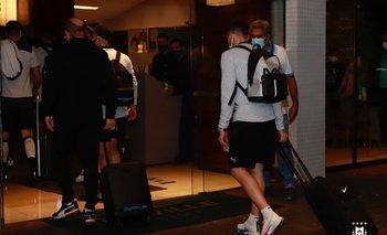 La llegada de Uruguay al hotel Deville