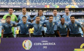 El once de Uruguay ante Chile