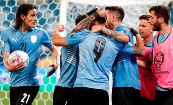 Luis Suárez convirtió y cortó la peor racha de Uruguay en la red rival en la era Tabárez