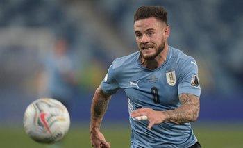 Nahitan Nández está haciendo una buena Copa América con Uruguay