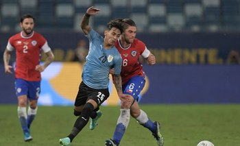 Torres ingresó para disputar los últimos 30 minutos ante Chile