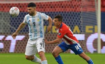 Sergio Agüero fue titular ante Paraguay