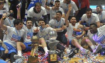 El festejo del campeón