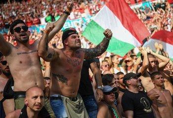 Hinchas de Hungría en la Euro