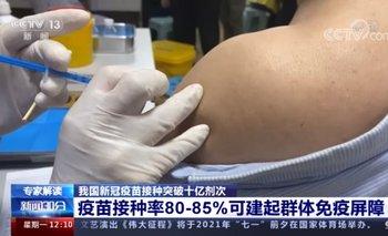 En China consideran que deben llegar al 80% u 85% de la población vacunada para lograr la inmunidad
