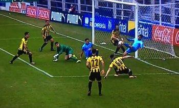 20210623 La jugada del gol que fue anulado a Montevideo City Torque por supuesto offside a los 8 minutos