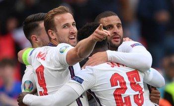 Inglaterra en la final de la Euro