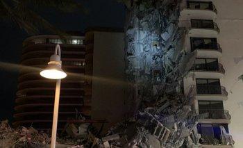 Así quedó el edificio de Miami.