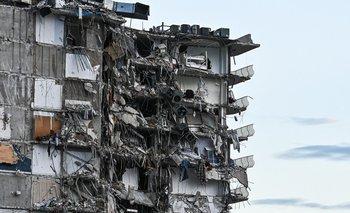 Así quedó el edificio parcialmente derrumbado en Miami